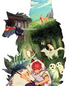 --Surt <<< it's Princess Mononoke, a film by Studio Ghibli Manga Anime, Film Manga, Manga Art, Anime Art, Totoro, Studio Ghibli Art, Studio Ghibli Movies, Hayao Miyazaki Films, Girls Anime
