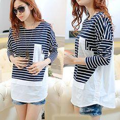 Autumn Fashion Long Sleeve Stripe T-Shirt