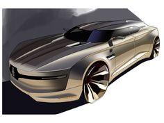 Lincoln MKF Concept by Brian Malczewski - Design Sketch Ford Motor Company, Lincoln Motor Company, Car Design Sketch, Car Sketch, Futuristic Cars, Car Drawings, Bike Design, Transportation Design, Automotive Design