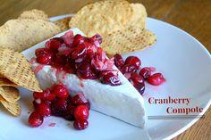 Super easy holiday entertaining-- Cranberry Compote! #FoodShouldTasteGood @FoodShouldTasteGood