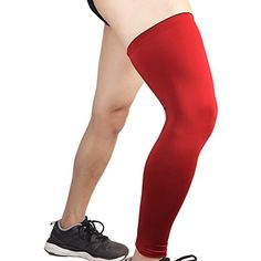 55bc8356a HOPEFORTH Compression Leg Sleeve Knee Long sleeves Support Socks sports Football  Baseball Basketball Running Cycling Stretch