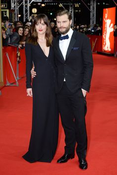Dakota Johnson and Jamie Dornan hit the red carpet at the Fifty Shades of Grey premiere.