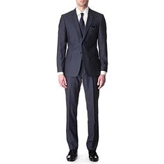 PAUL SMITH LONDON The Floral slim-fit striped suit (Blue