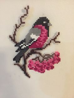 Bird perler beads by Heather Bergstedt More