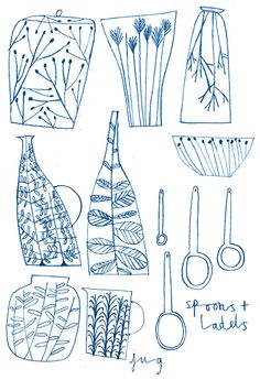 emma lewis drawings + illustrations: first ceramic designs