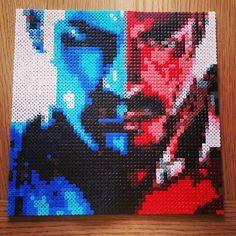 Captain America/ Iron man perler beads by hana_kitty
