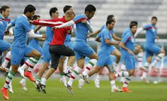 Bleu #Kinesiology #Tape used by an Iranian players during the Fifa World Cup 2014. #Taping