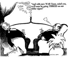 This WWI political cartoon by Dr. Seuss depicts Roosevelts