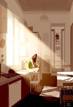 Sunshine, bread, and Nutella. by PascalCampion.deviantart.com on @DeviantArt