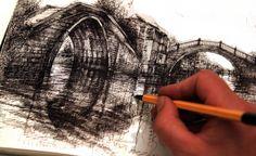 Ian Murphy Drawing in Wuzhen, China