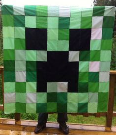 Minecraft Creeper Quilt, maybe a mini-one for a gift?
