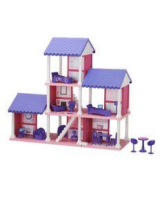 Look at this #zulilyfind! Delightful Three-Story Dollhouse by American Plastic Toys #zulilyfinds