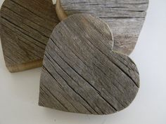 Recycled barn wood hearts  Set of three  Spring by LillysHouse, $15.00