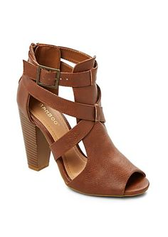 Criss-Cross Caged Heeled Shoetie | rue21