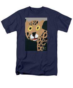Patrick Francis Safari Green Designer T-Shirt featuring the painting Jaguar 2014 by Patrick Francis Cream T Shirts, Gold T Shirts, Rembrandt Self Portrait, Yellow T Shirt, White Caps, The Incredibles, Mens Tops, Design