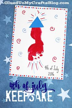 Cool july crafts for infant and toddlers. footprint firework - of july keepsake Daycare Crafts, Classroom Crafts, Baby Crafts, Preschool Crafts, Kids Crafts, Summer Crafts For Toddlers, Preschool Plans, Kids Daycare, 4th July Crafts