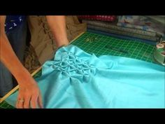 Canadian Smocking - how to make a round cushion.  She has several videos on Canadian Smocking.