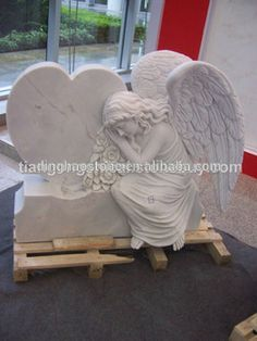 Marble monuments angels