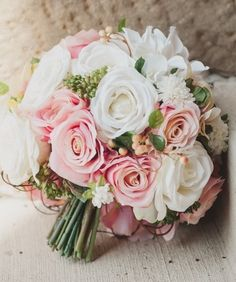 Some Brides Are Lucky Enough To Have Their Mother Make Bouquet Like This One Silk Wedding Bouquetsdiy Flowersbridesmaid