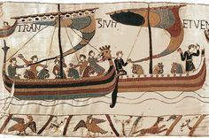 Norman ships, Bayeux Tapestry (1027-1087.