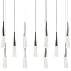 Sonneman Spire Eleven Light Linear Pendant