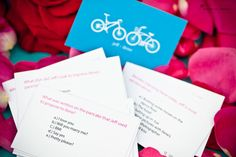 Trivia Cards! - Print out trivia cards and put out on all the cocktail tables. Use Moo to print uniquely different cards with different questions on each. Link is here http://us.moo.com/about/printfinity.html  www.marcusjonesphotography.com