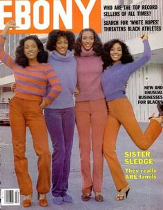 Vintage Ebony magazine, cover Sister Sledge