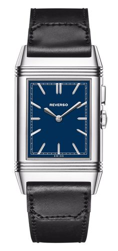 (NEW) Jaeger-LeCoultre Grande Reverso Ultra Thin Duoface with blue dial as the one in the Thirties!