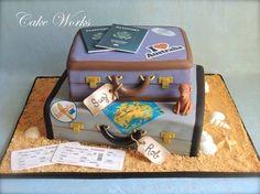 Australia themed luggage cake