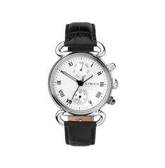 ステンレススティール製ケースとブラックカラーのクロコダイルレザーストラップとのコンビネーションがクールで美しいウオッチ。カジュアルからシックなスタイルまでマッチします。ラグ(ケースの上下に施されたベルトを装着する部分)部分にはチャームを付けられるので、あなただけのスペシャルな時計にアレンジしてみるのも素敵です。