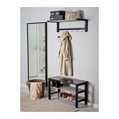 TJUSIG Banc avec rangement chaussures - noir, 81x50 cm - IKEA