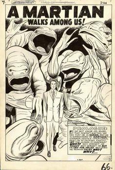 Jack Kirby: A Martian Walks Among Us! Strange Tales #78 (november 1960).