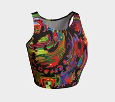 """Athletic+Crop+Top+""""FRIEDRICH""""+by+ART+OF+THE+MYSTIC+OTTO+RAPP Athletic Crop Top, Crop Tops, Tank Tops, Mystic, My Design, Workout, My Style, Prints, Fashion Design"""