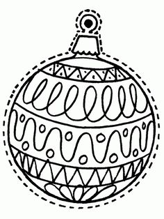 christmas coloring pages printable for applique | Christmas ornament ...