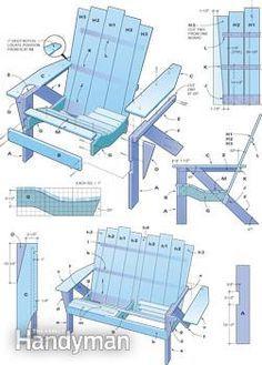 adirondack chair plan designed for elderly to get up easier | can, Garten ideen
