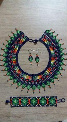 Collares en piedra Seed Bead Earrings, Seed Beads, Beading Tutorials, Beading Patterns, Beaded Jewelry, Beaded Necklace, Beaded Crafts, Beaded Collar, Diy Jewelry Making