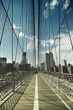 Brooklyn Bridge, NYC. Walked over this bridge many times a week when I worked in Lower Manhattan from 2000-2004.
