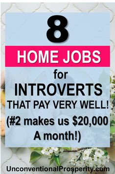 The 8 Best Home-Based Jobs for Introverts – Unconventional Prosperity 8 work from home jobs that will help make the transition to home based work super easy and flexible for your busy life. Home Based Work, Legit Work From Home, Legitimate Work From Home, Work From Home Jobs, Work At Home Companies, Online Jobs From Home, Ways To Earn Money, Earn Money From Home, Make Money Fast