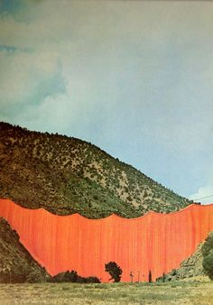 Christo  Jeanne Claude interventions.  First time I've ever seen a photograph of it in color.