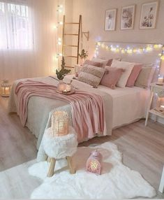 Best 27 Room Decor Bedroom Design Ideas For Your Inspiration Bedroom Decor For Teen Girls, Cute Bedroom Ideas, Cute Room Decor, Girl Bedroom Designs, Room Ideas Bedroom, Home Decor Bedroom, Bedroom Inspo, Bedroom Inspiration, Master Bedroom