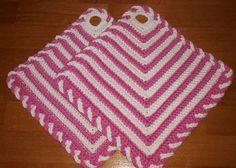 Topflappen - gehäkelte Topflappen - ein Designerstück von tanjas-stricksocken bei DaWanda