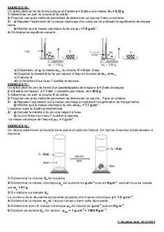 8 Idees De Masse Volumique Masse Volumique Physique Chimie College Physique Chimie