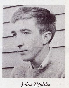 "John Updike, ca. 1965  The sheen of my sandals is dulled by the dust of cloves. My wings are waxed with nectar. My eyes are diamonds in whose facets red gold is mirrored. My face is a mask of ivory: Love me. Listen to my promises.  -John Updike, ""Archangel"""