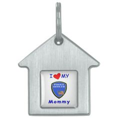 Police Mom Love Pet Tag
