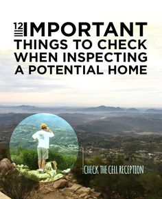12 Important Things To Check When Inspecting A Potential Home
