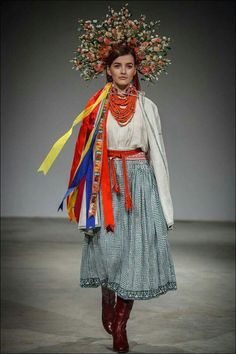 A bride. Ukrainian traditional costume, Volyn, Ukraine