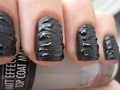 Fotos de uñas color negro – Black Nails – 45 Ejemplos | Decoración de Uñas - Manicura y NailArt