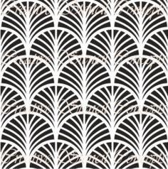 Scallop Art Deco Decorative Stencil MULTIPLE por CreativeStencils                                                                                                                                                                                 Más