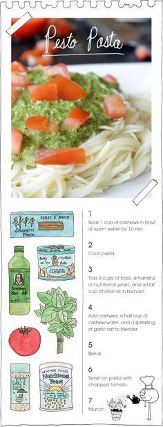 Pesto Pasta | The Vegan Stoner
