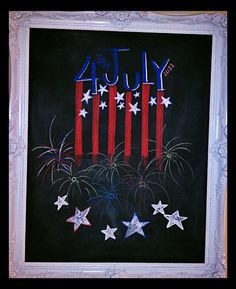 4th of july chalkboard art - Google Search